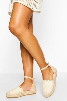 boohoo Ankle Strap Espadrilles