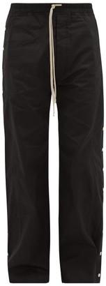 Rick Owens Snap-button Cotton-ripstop Trousers - Black