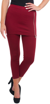Magid Maroon Zip-Accent Skirted Leggings - Plus Too