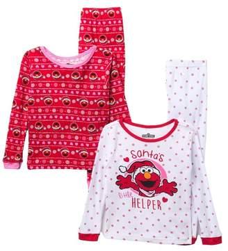 AME Elmo Christmas Cotton Pajamas - Set of 2 (Toddler Girls)