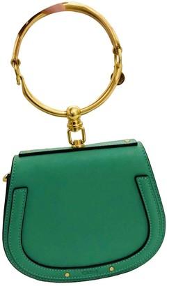Chloé Bracelet Nile Green Leather Handbags