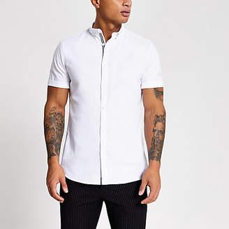River Island White short sleeve Oxford shirt