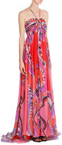 Emilio Pucci Printed Silk Maxi Dress