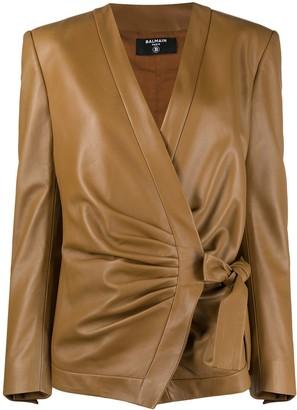 Balmain Wrapped-Front Jacket