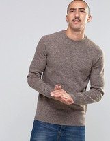 Barbour Jumper In Lambswool In Sand