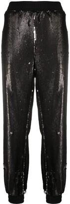 Styland Sequin-Embellished Track Pants