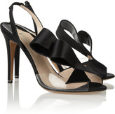 Nicholas Kirkwood Silk-satin and PVC slingbacks