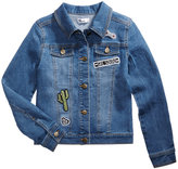 Epic Threads Patch Denim Jacket, Big Girls (7-16), Created for Macy's
