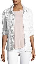 Hudson Emmet Long-Sleeve Destroyed Boyfriend Jacket, White