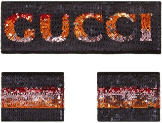 Gucci Sequin headband and wrist cuffs