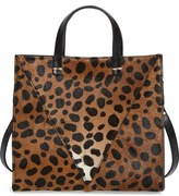Clare Vivier 'Petit Simple' Leopard Print Genuine Calf Hair Tote