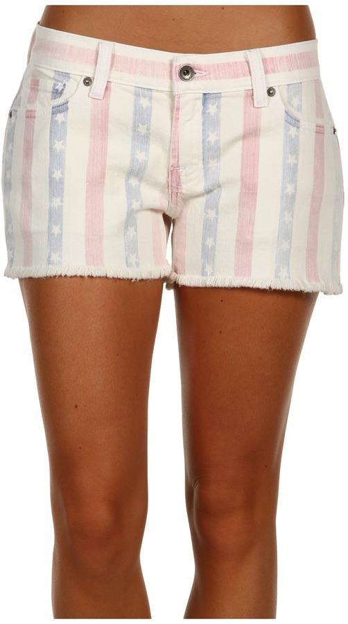 Lucky Brand Stars Stripes Riley Cut-Off Short (Vintage) - Apparel