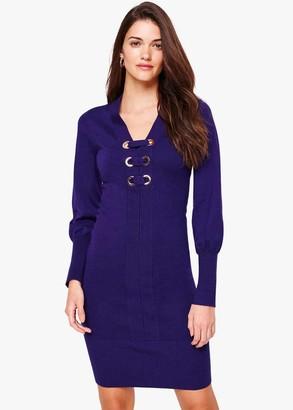 Phase Eight Elora Eyelet Knit Dress