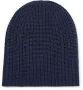 Alex Mill Ribbed Cashmere Beanie - Navy