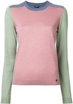 Jil Sander Navy colour block jumper - women - Silk/Cashmere - M