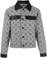 Kokon To Zai monogram print shirt jacket - men - Polyester - S