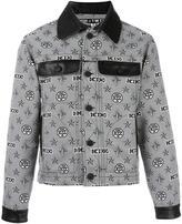 Kokon To Zai monogram print shirt jacket - men - Polyester - S