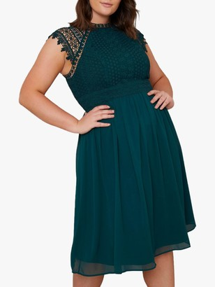 Chi Chi London Curve Simona Dress, Teal
