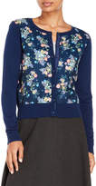 Yumi Floral Woven Front Cardigan