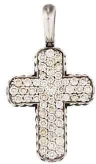 David Yurman Diamond Chevron Cross Pendant