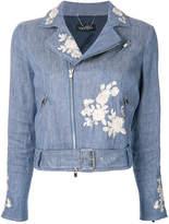 Twin-Set embroidered denim jacket