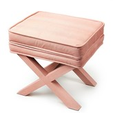 "The Well Appointed House Soft Coral Faux Shagreen ""X"" Bench"