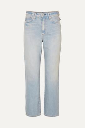 Simon Miller W007 Distressed High-rise Straight-leg Jeans - Light denim