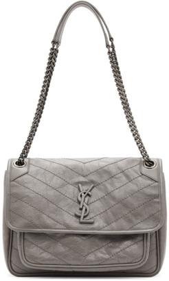Saint Laurent Grey Medium Niki Bag