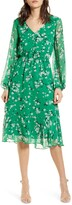 Cupcakes And Cashmere Rosalia Floral Print Long Sleeve Dress