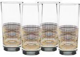 Culver 22K Gold Reticulated Glass - Set of 4