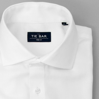 Tie Bar Herringbone - French Cuff White Non-Iron Dress Shirt