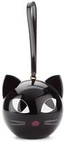 Lulu Guinness Women's Kooky Cat Perspex Orb Clutch Black