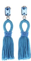 Oscar de la Renta Capri Short Silk Tassel Earrings