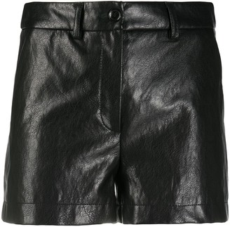 Boutique Moschino High-Waisted Leather Shorts