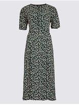 M&S Collection Daisy Print Short Sleeve Tea Midi Dress