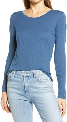 Caslon Long Sleeve Crewneck T-Shirt