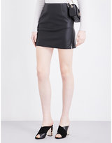 French Connection Canterbury faux-leather skirt