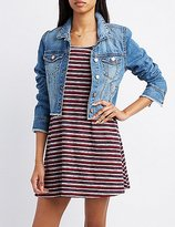 Charlotte Russe Refuge Frayed Denim Jacket