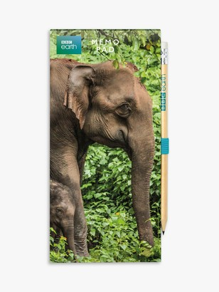 BBC Earth Elephant Notepad & Pencil