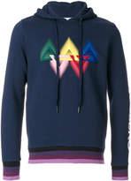 Iceberg colour-block hooded sweatshirt