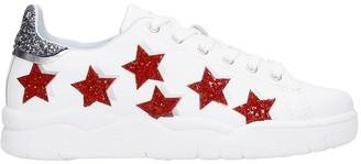 Chiara Ferragni Sneakers In White Leather