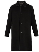 Alexander McQueen Single-breasted cashmere overcoat