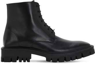 Balenciaga Leather Lace-up Boots