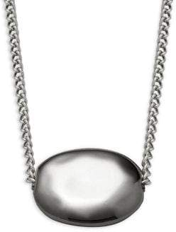Shade Silvertone Pendant Necklace