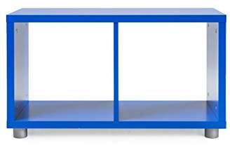 Camilla And Marc Tenzo 1822-040 Designer Box 003 Divider 1 x 2 Wood, Blue, 35 x 73 x 42 cm