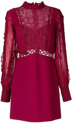 Martha Medeiros Natalia lace mix dress