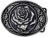 Pancy Womens Western Vintage Rose Ornate Rope Belt Buckle