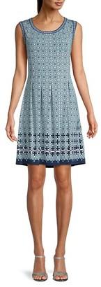 Max Studio Geometric-Print Mini Dress