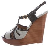 Chloé Leather-Trimmed Platform Wedges