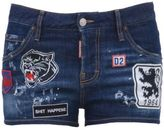 DSQUARED2 Cool Girl Stretch Denim Shorts